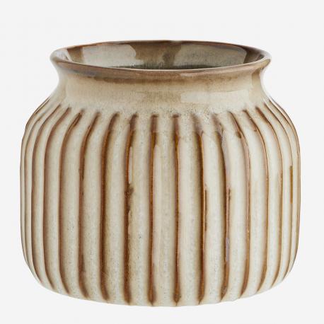 Vase beige en grès