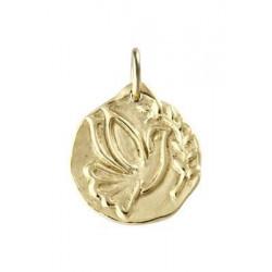 Médaille Or Jaune La colombe au Rameau de Mély