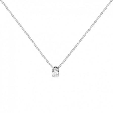 meilleur endroit pour belle et charmante sélection premium Collier en or gris avec diamant pour femme, bijouterie Stoven