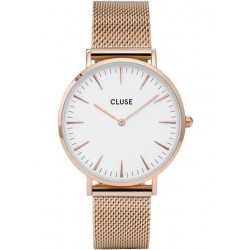 Montre La Bohème - Mesh Rose Gold/White