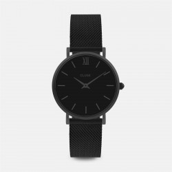 Montre Cluse Minuit Mesh Full Black