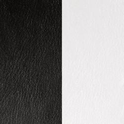 Cuir Les Georgettes pour Bracelet 14 mm Noir & Blanc