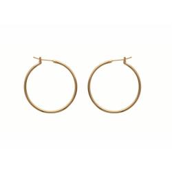 Boucles d'oreilles Créoles 30 mm Plaqué Or
