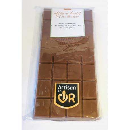 Tablette au chocolat lait 35% de cacao
