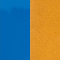 Cuir Bracelet Les Georgettes Bleu Vif et Moutarde 14 mm