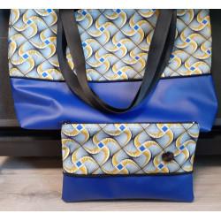 "Création sur mesure sacs ""cabas"" Wax bleu"