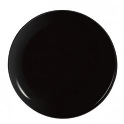 EVOLUTIONS BLACK ASSIETTE PLATE 25CM