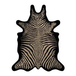 SET DE TABLE de la marque PÔDEVACHE motif zèbre camel & noir