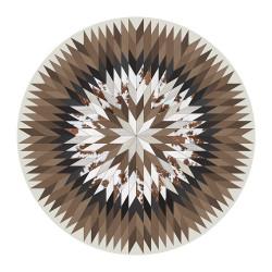 SET DE TABLE de la marque PÔDEVACHE rond motif étoile patchwork