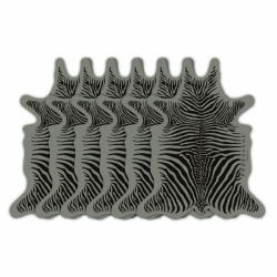 6 DESSOUS DE VERRE de la marque PÔDEVACHE motif gris & noir