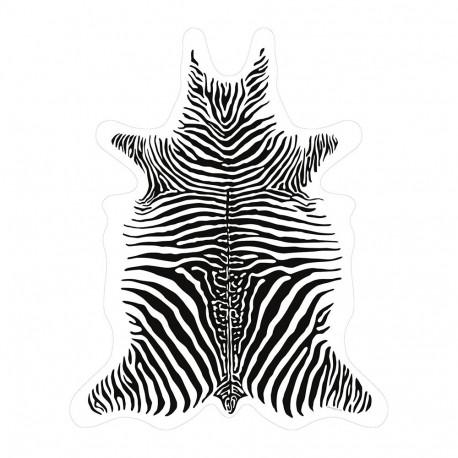 SET DE TABLE de la marque PÔDEVACHE motif zèbre blanc & noir