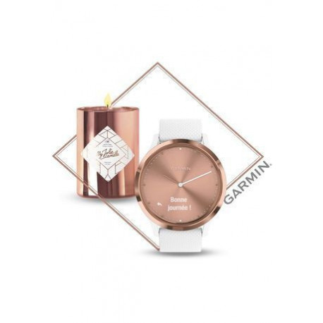 Montre Coffret montre Vívomove HR Blanche Rose Gold x Bougie/Bijou My Jolie Candle