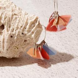 Boucles d'oreilles GAS Bijoux à plumes modèle MARLY pièce unique