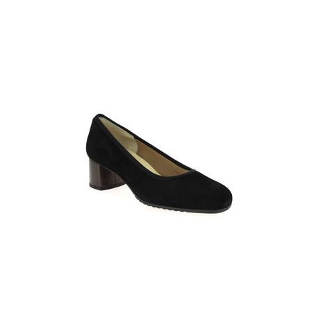 Escarpins nubuck noir de la marque PieSanto