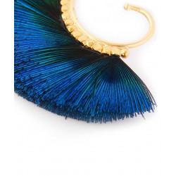 Boucles d'oreilles GAS Bijoux à plumes modèle BUZIOS pièce unique