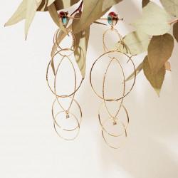 Boucles d'oreilles GAS Bijoux modèle TORSADE SCARABEO OR