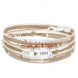 Bracelet DORIANE multi-tours LOVE
