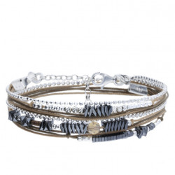 Bracelet DORIANE 2 tours avec pierre