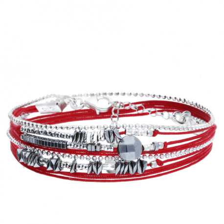 Bracelet DORIANE 2 tours avec pierre hématite
