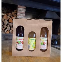 Coffret dégustation - 3 jus de pommes régionaux