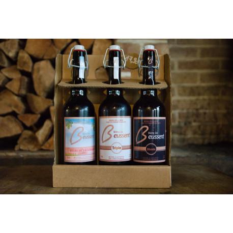 Coffret dégustation de bière de Beussent 75cl - bières régionales