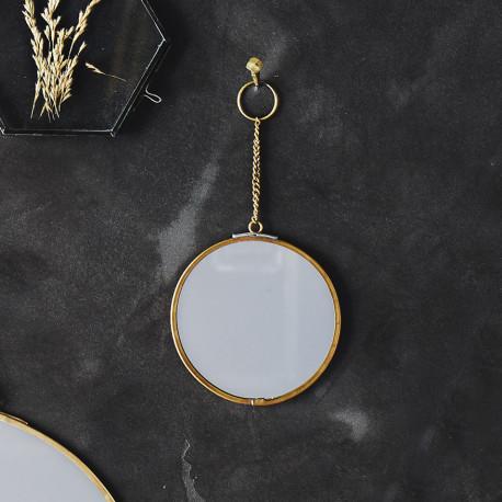 Miroir rond avec chainette