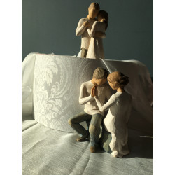 Statuettes couples Promise et Around you Willow Tree