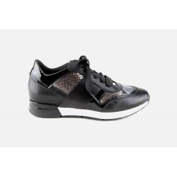 Sneakers Vernis Noir Femme