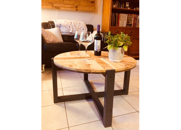Table basse motifs ronde